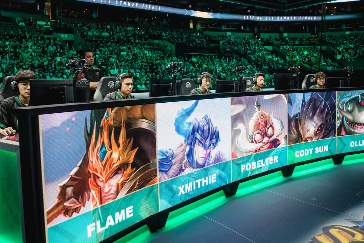 Immortals' League of Legends team competing in the 2017 Summer Split Finals