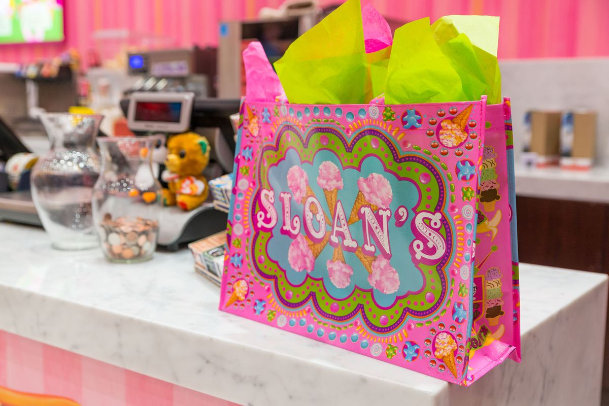 A bag from Sloan's Ice Cream