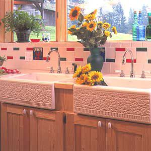 <p>Mixing tile shapes and sizes is another way to add interest to this relatively small area</p>