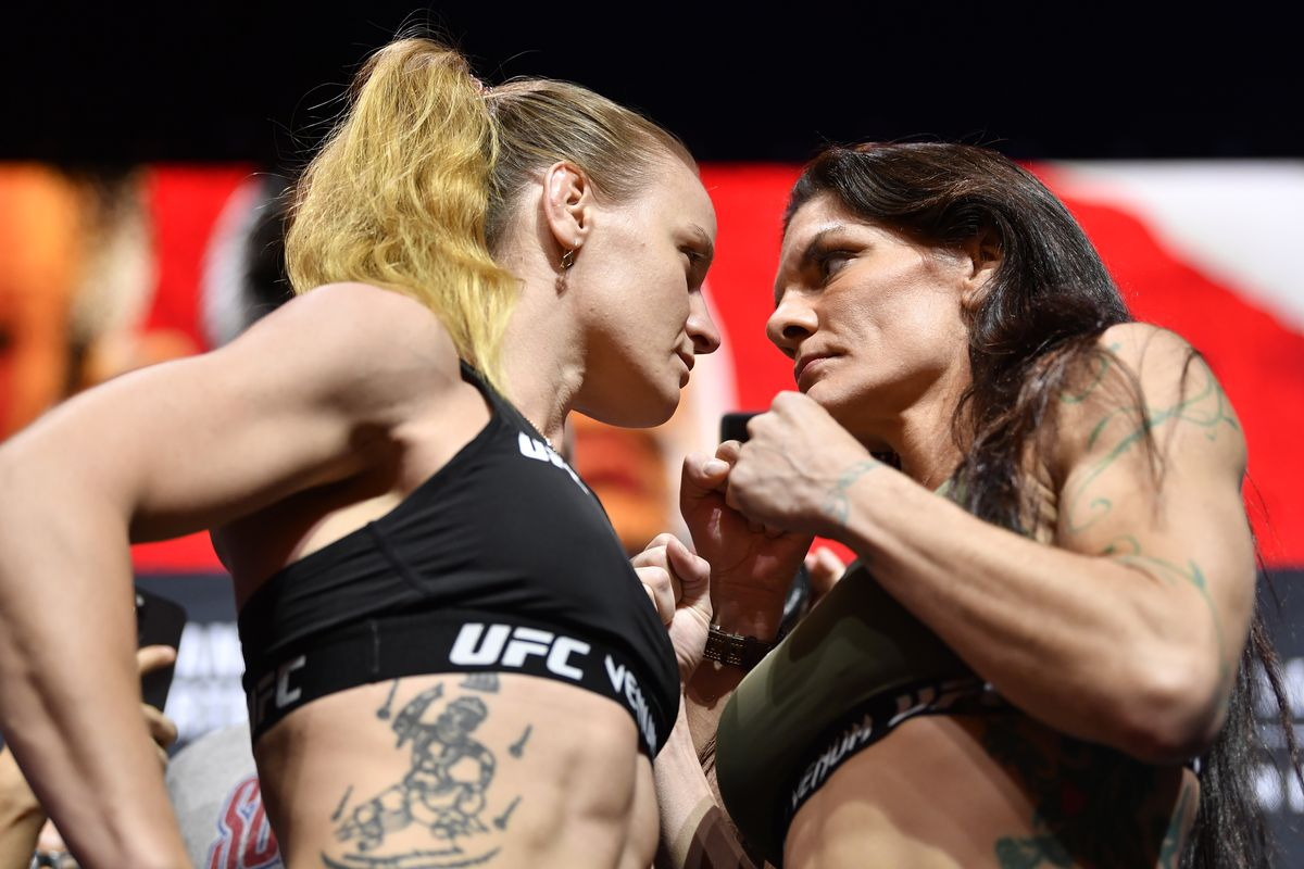 Valentina Shevchenko and Lauren Murphy at UFC 266