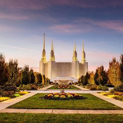 Scott Jarvie is on a mission to capture and compile pictures of every LDS temple in the United States. The Washington D.C. Temple is pictured here.