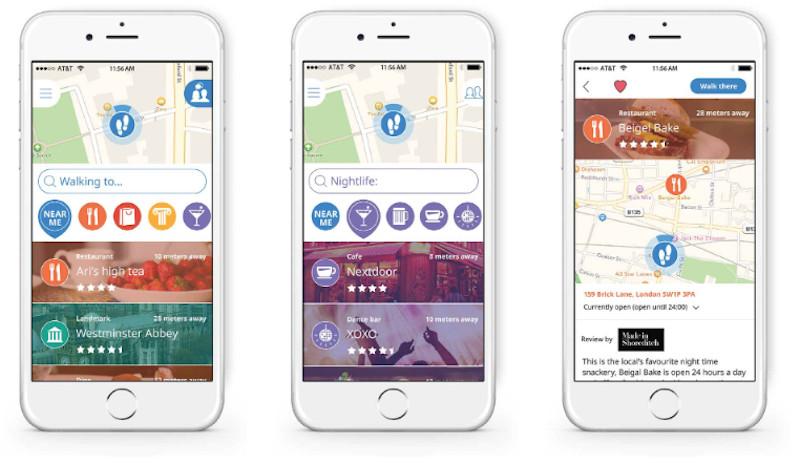 Mobile phones displaying the Sidekix app.