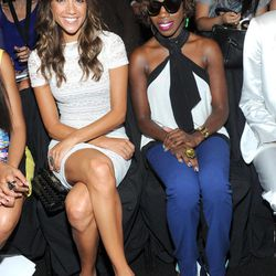 Actress Jana Kramer, left,  and singer Estelle attend the BCBG MAX AZRIA Spring 2013 show at Fashion Week in New York, Thursday, Sept. 6, 2012.