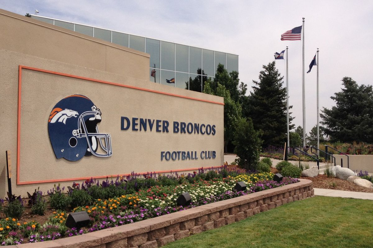 Denver Broncos headquarters at Dove Valley on the eve of 2013 training camp, Wednesday July 24.