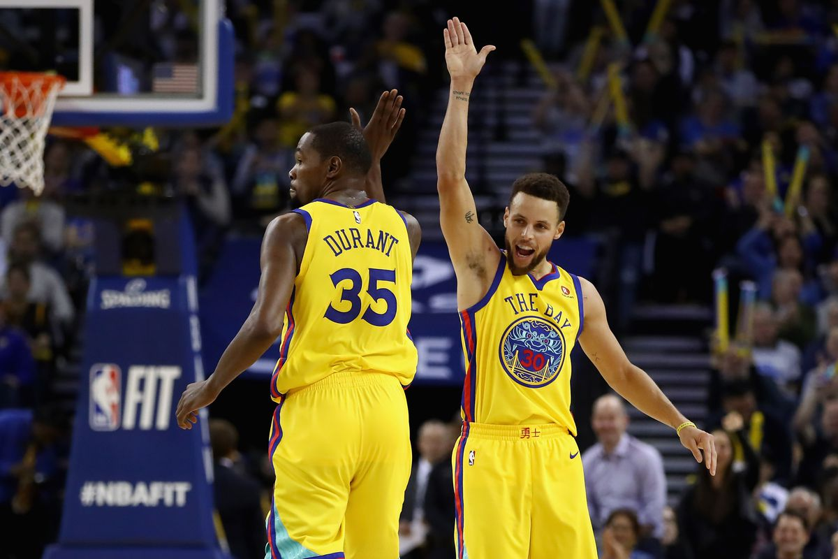 pretty nice 7f021 4de99 Photo by Ezra Shaw Getty Images. Stephen Curry and Kevin Durant ...