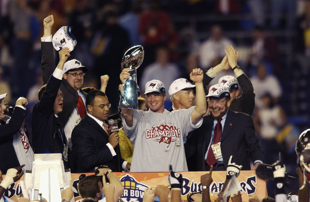 Gruden and the Lombardi Trophy