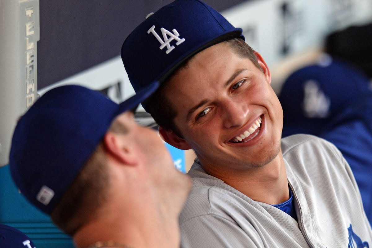 Corey Seager so far has lived up to his No. 1 billing among Dodgers prospects.
