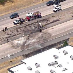 A small plane crashed into the I-15 median near Riverdale Road around 1 p.m. Wednesday, July 26, 2017. The Utah Highway Patrol reports there are casualties.