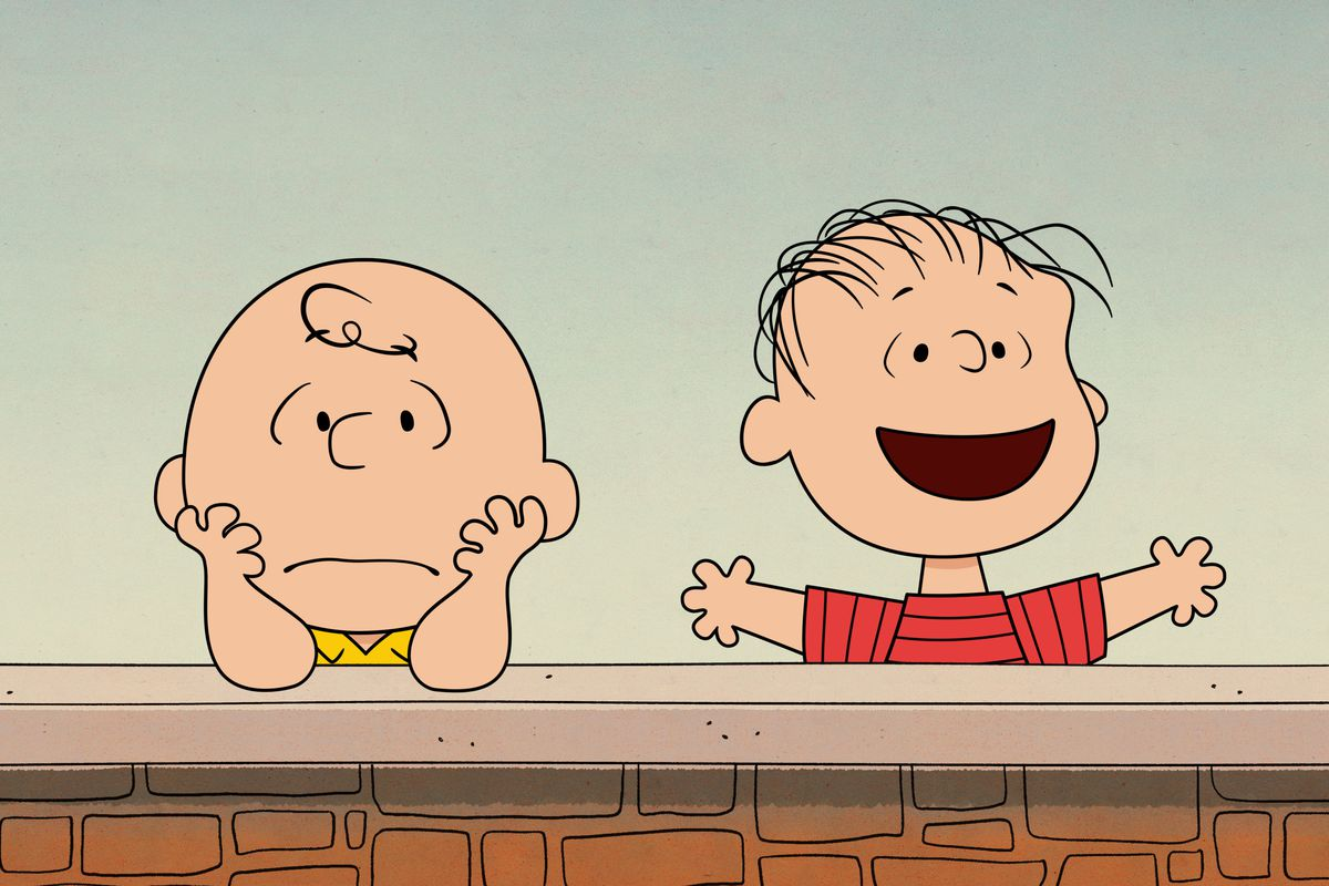 """Linus tries to reassure his nervous friend in """"Who Are You, Charlie Brown?"""""""