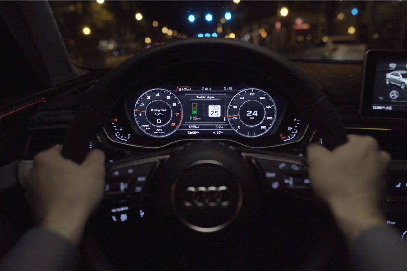 audi s traffic light sensor gives you the power to catch as many green lights as possible