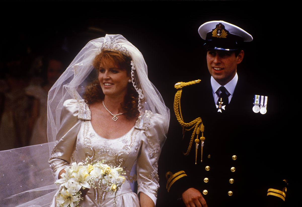 Sarah Ferguson and Prince Andrew on their wedding day in 1986.