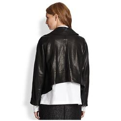 Leather jacket (back view), $398