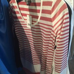 Striped knit top, $49 (was $165)