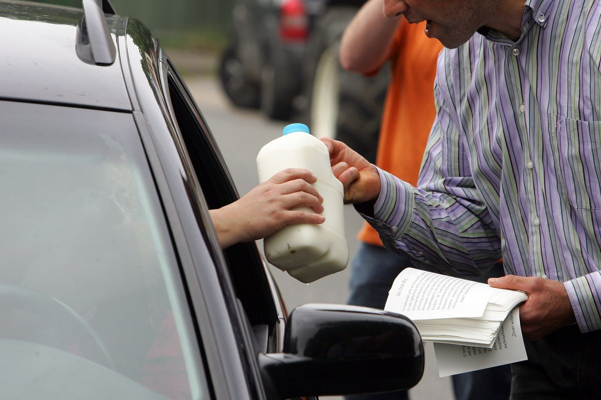 Farmers Protest Over Milk Prices