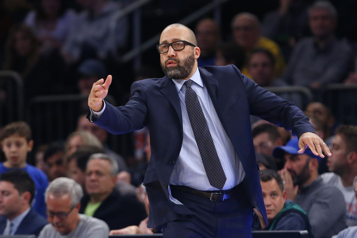 New York Knicks head coach David Fizdale coaches against the Boston Celtics during the first half at Madison Square Garden.