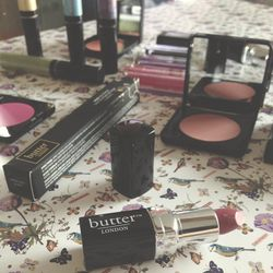 Among my deskside duties was sampling <b>Butter London's</b> new Bespoke Color Collection, a line with cream eyeshadows, eyeliners, mascaras, lipsticks, glosses, and cream blush.  My favorite products in the collection are the super high pigmented eyeline