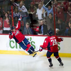 Ovechkin With Hand in the Air