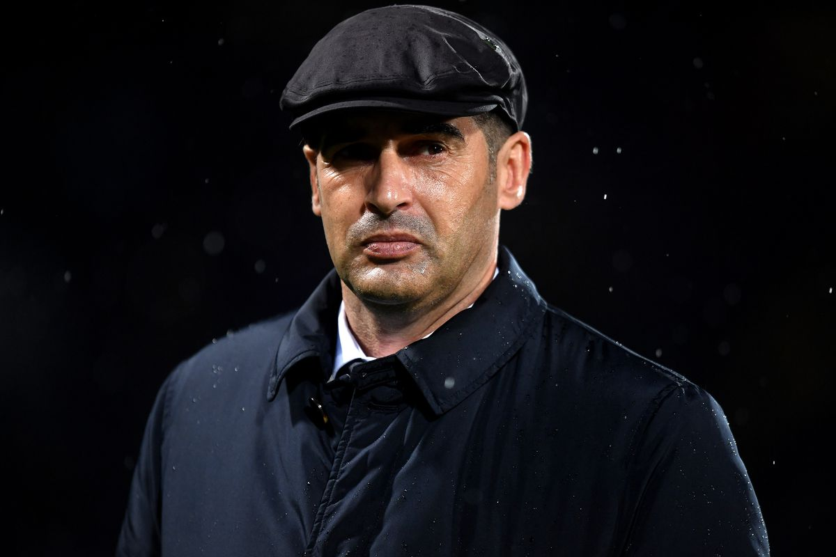 Paulo Fonseca coach of AS Roma looks on ahead the Serie A...