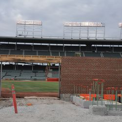 Gate Q area, with ballpark lights on -