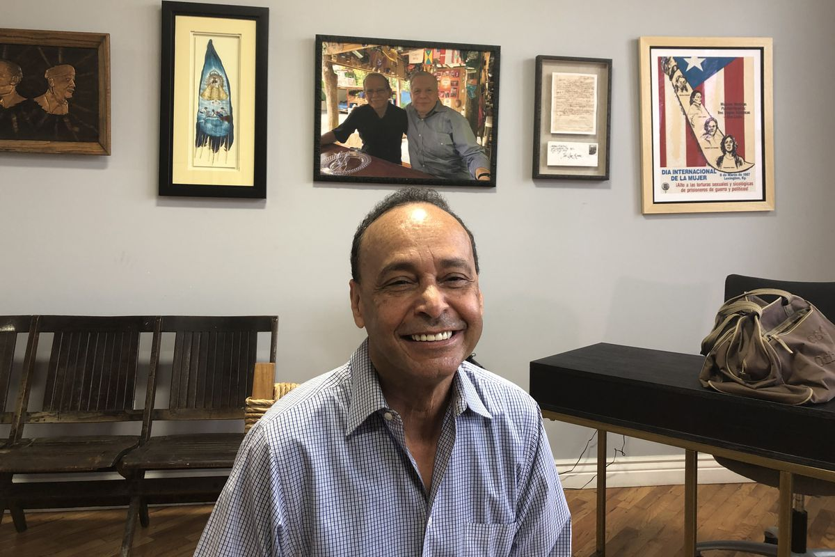 Former U.S. Rep. Luis Gutierrez discusses his plans at the Puerto Rican Cultural Center in the Humboldt Park neighborhood Wednesday.