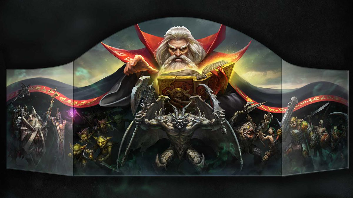 The updated game master's screen features the same iconic line-up of monsters, fronted by the imposing gargoyle.