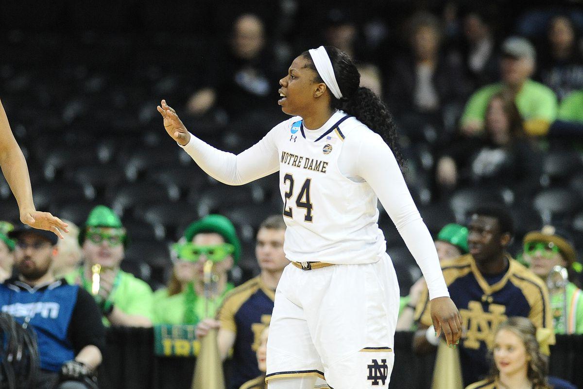 NCAA Womens Basketball: NCAA Tournament-Spokane Regional-Oregon Ducks vs Notre Dame Fighting Irish