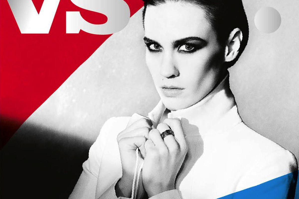 "January Jones in one of four covers for Vs., via <a href=""http://fashiongonerogue.com/kate-bosworth-january-jones-anne-v-irina-shayk-and-eva-herzigova-cover-vs-magazine-ss-2013/"">Fashion Gone Rogue</a>"