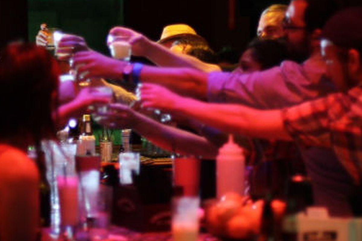 Scene from Wednesday night's Ramos Gin Fizz Marathon