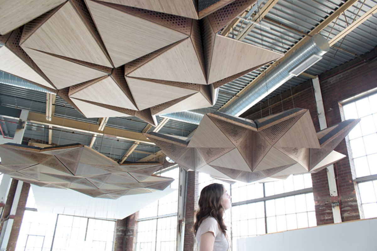 Design Firm Rvtr Builds Sound Shaping Mechanical Ceiling