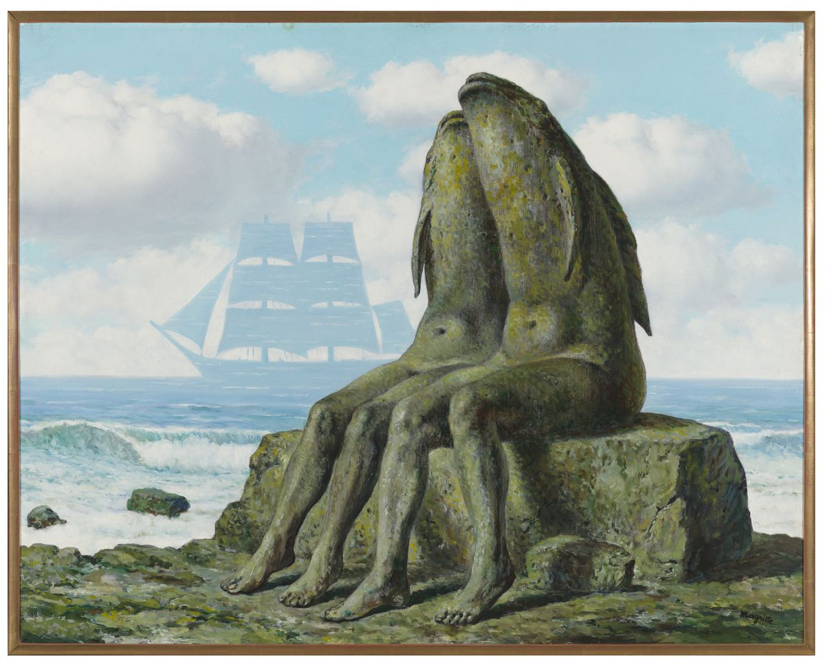 René Magritte, Les merveilles de la nature (The Wonders of Nature), 1953. | © 2017 C. Herscovici/Artists Rights Society (ARS), New York Photo: Nathan Keay, © MCA Chicago