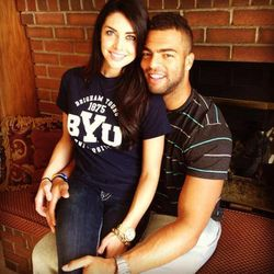 BYU linebacker Kyle Van Noy and Miss Utah USA Marissa Powell announced their engagement on Twitter Sunday afternoon.