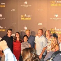 Top Chef Masters contestants and judges along with John Unwin, CEO of the Cosmopolitan of Las Vegas.