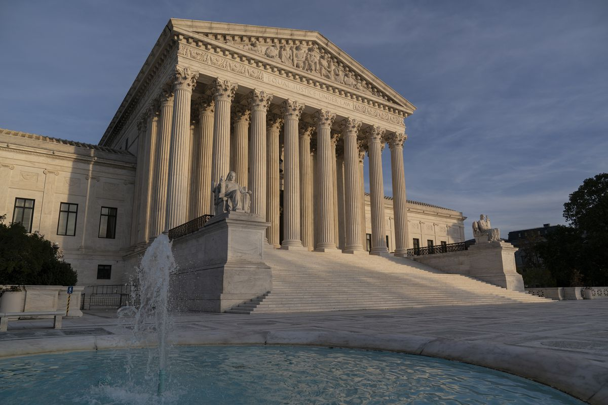 In this Nov. 5, 2020 file photo, the Supreme Court is seen in Washington.