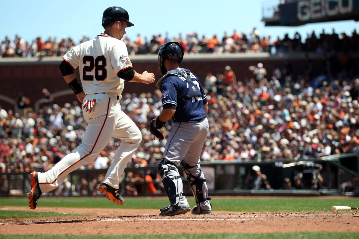 Buster Posey can really fly.