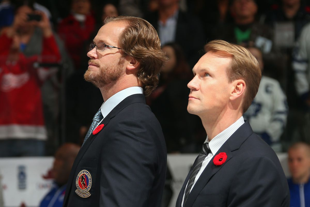 Chris Pronger and Nicklas Lidstrom