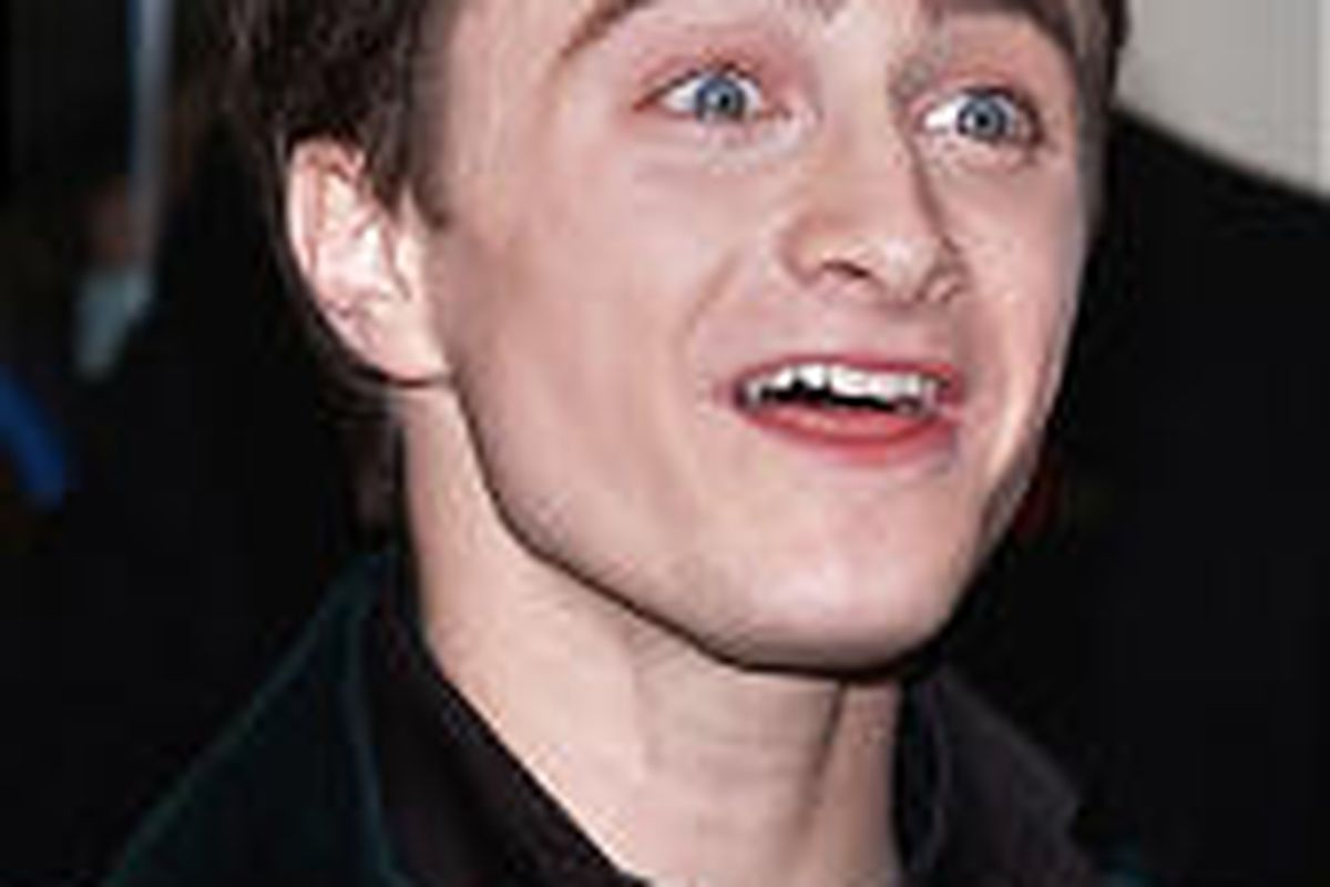 Actor Daniel Radcliffe arrives in London's Leicester Square for the latest Harry Potter film premiere Sunday.