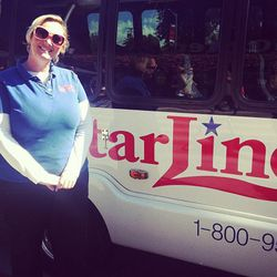 Our wonderful Starline tour guide (and Marilyn Monroe superfan), Sally.