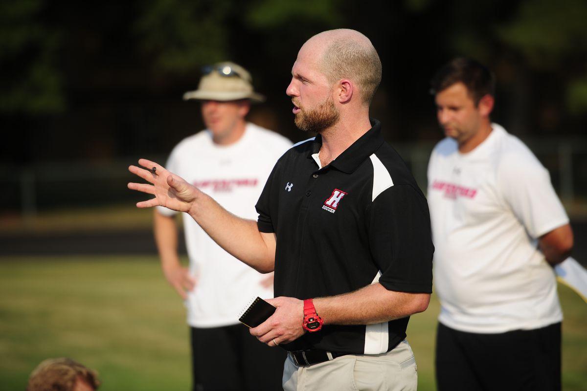 Haverford men's soccer coach Shane Rineer