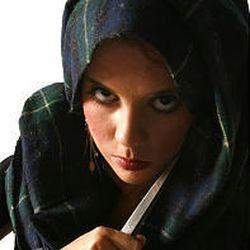 "Rebecca Johnson as Lady Macbeth in Utah State University's production of ""Macbeth."""