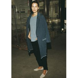 """<b>Etoile Isabel Marant</b> Fara Coat in Denim, <a href=""""http://www.mnzstore.com/collections/clothing/products/fara-denim-coat"""">contact for price</a>"""