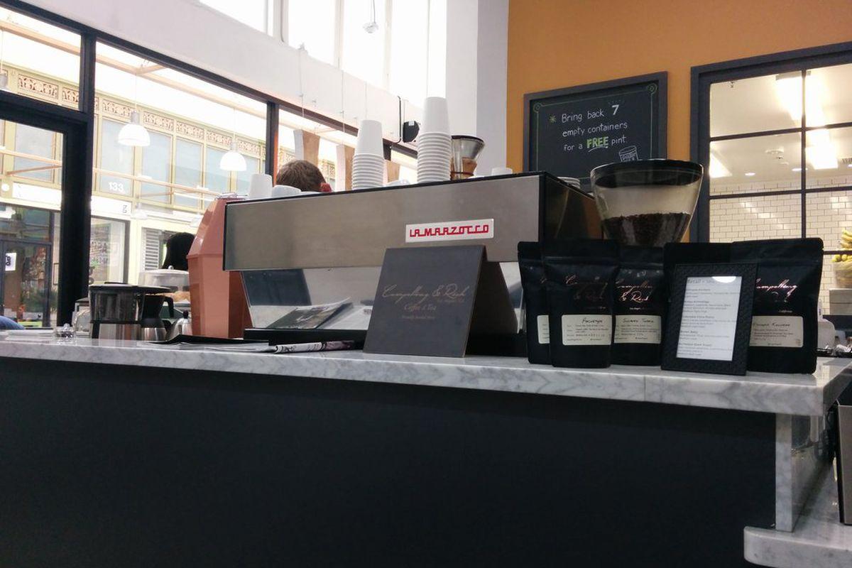 Frequency Coffee inside Gelateria Uli