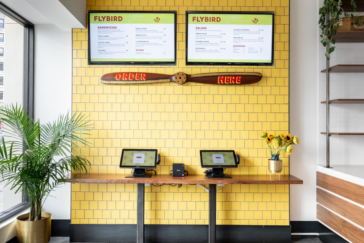 Menus and ordering tablets at Flybird