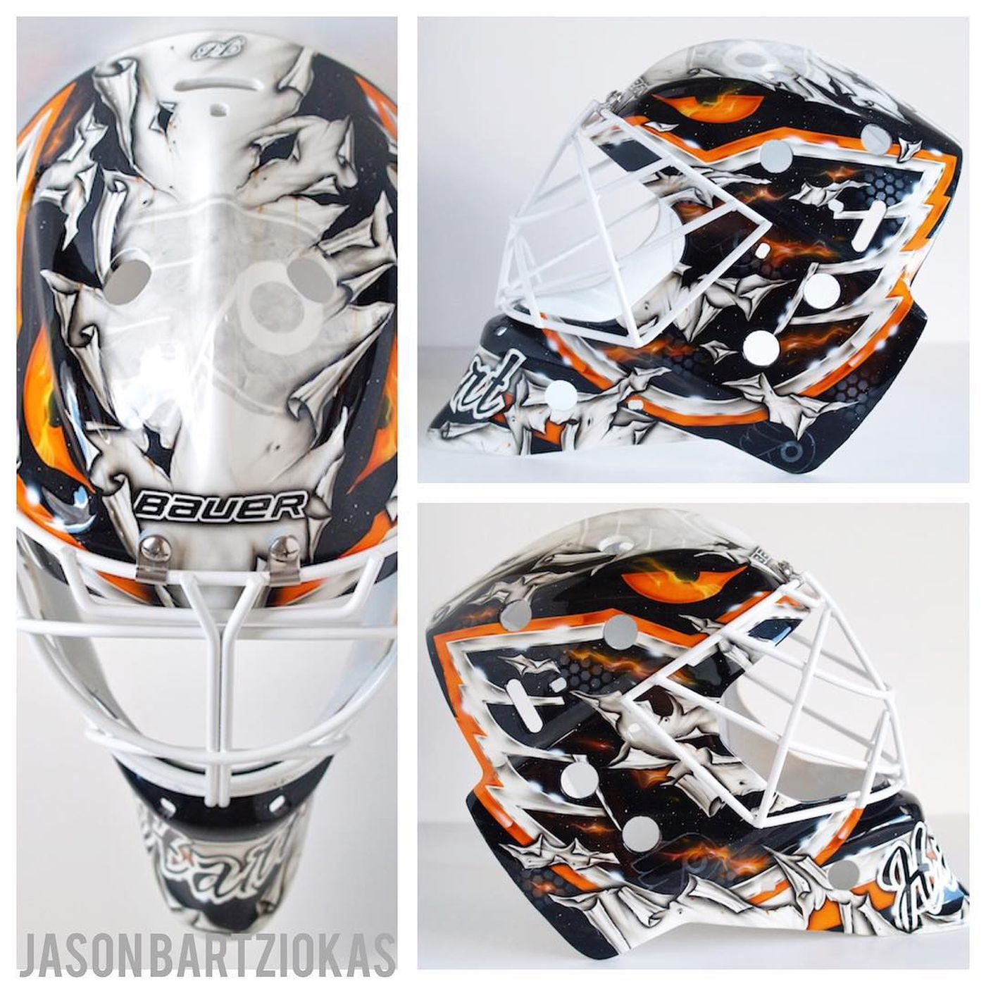 aba7b8dd648 Carter Hart has two new goalie masks, and they're glorious - Broad Street  Hockey