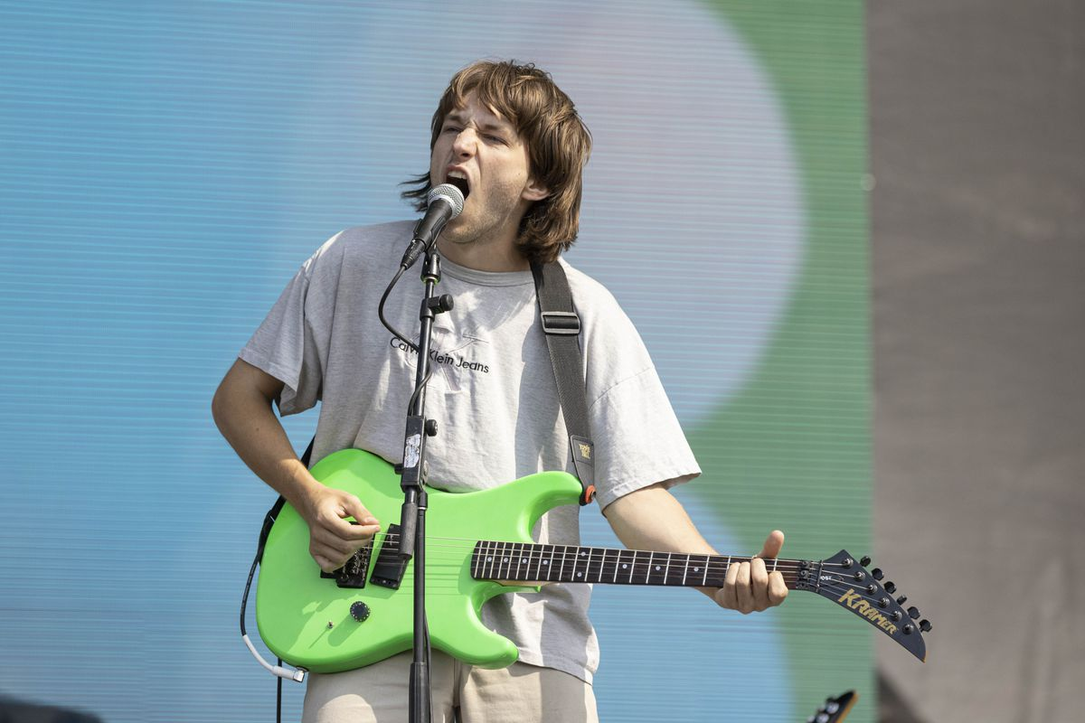 Jason Balla of DEHD performs on day one of the Pitchfork Music Festival.