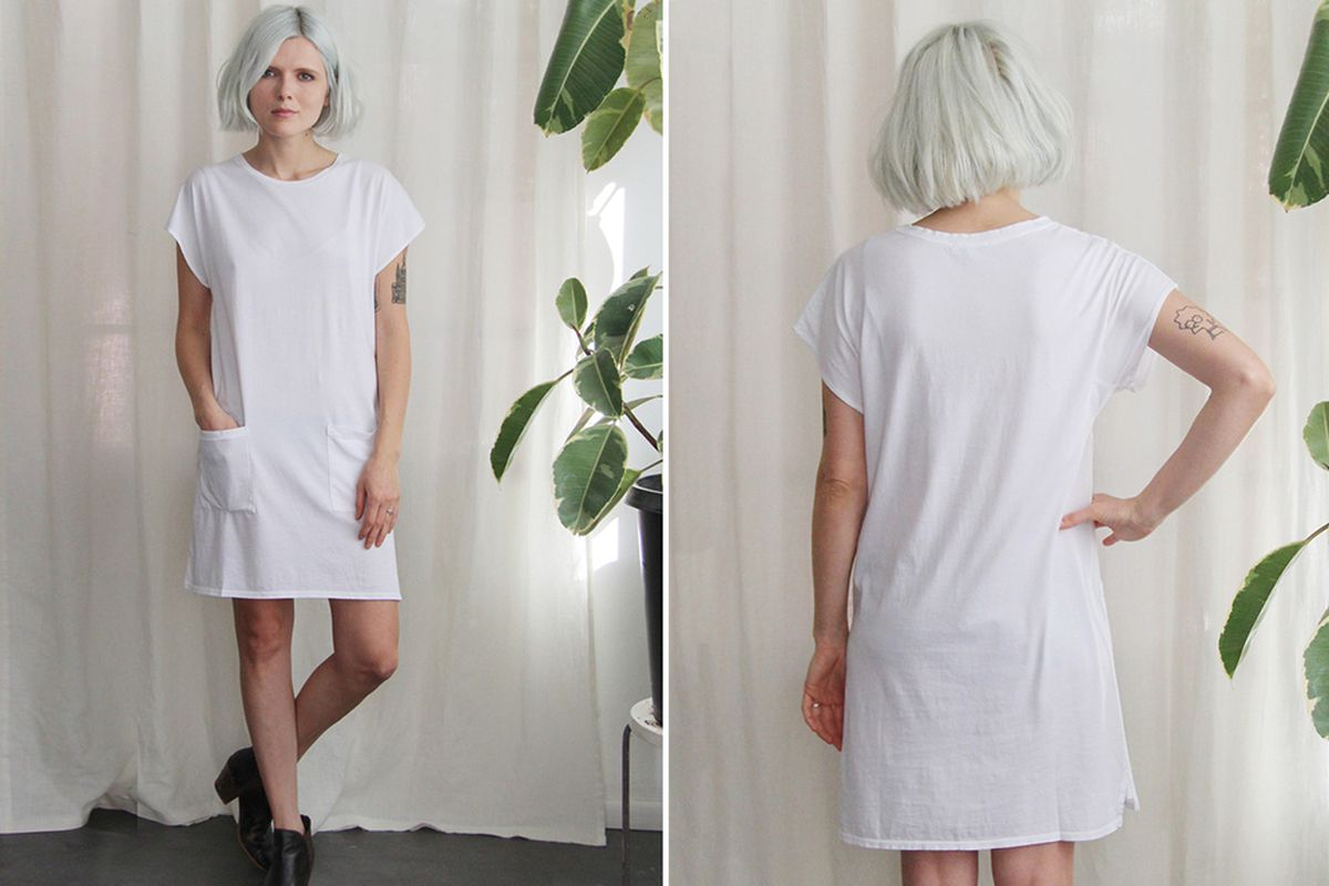 """Calder Blake Cicely Dress in White, <a href=""""http://shop.calderblake.com/collections/new-arrivals/products/cicely-dress"""" target=""""_blank"""">$152</a>"""