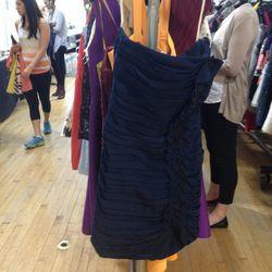 Shoshanna Ruched Ruffle Strapless Dress, $29