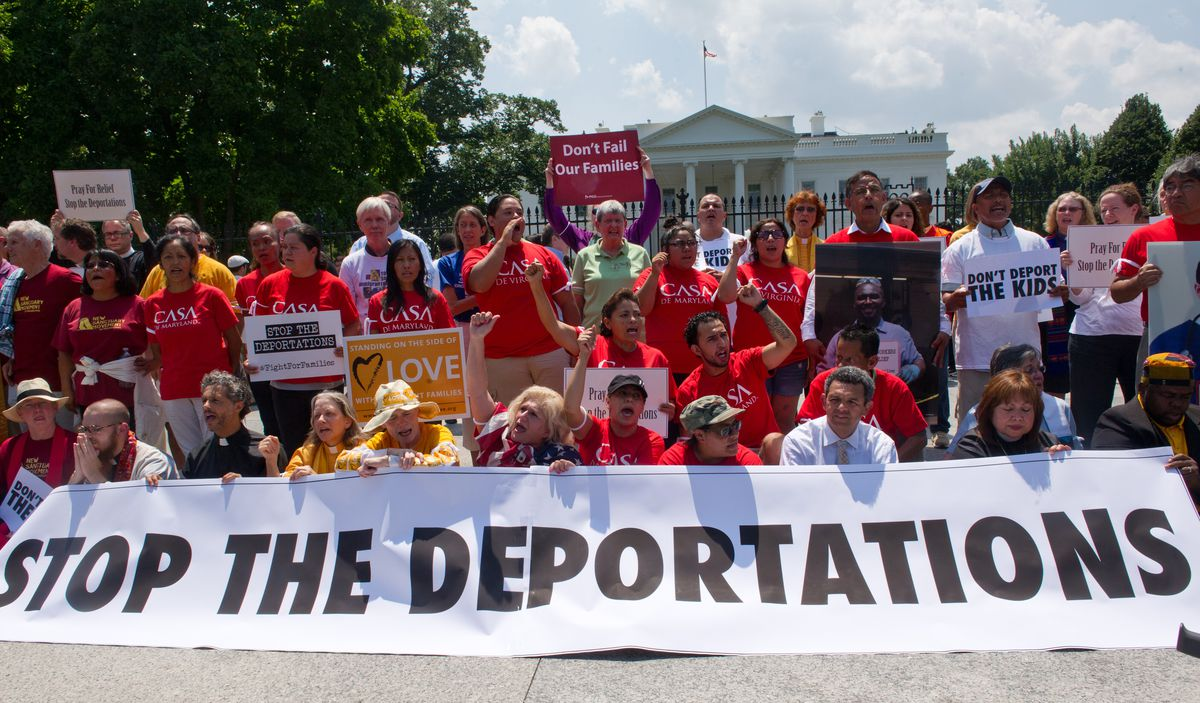 Stop the deportations protest