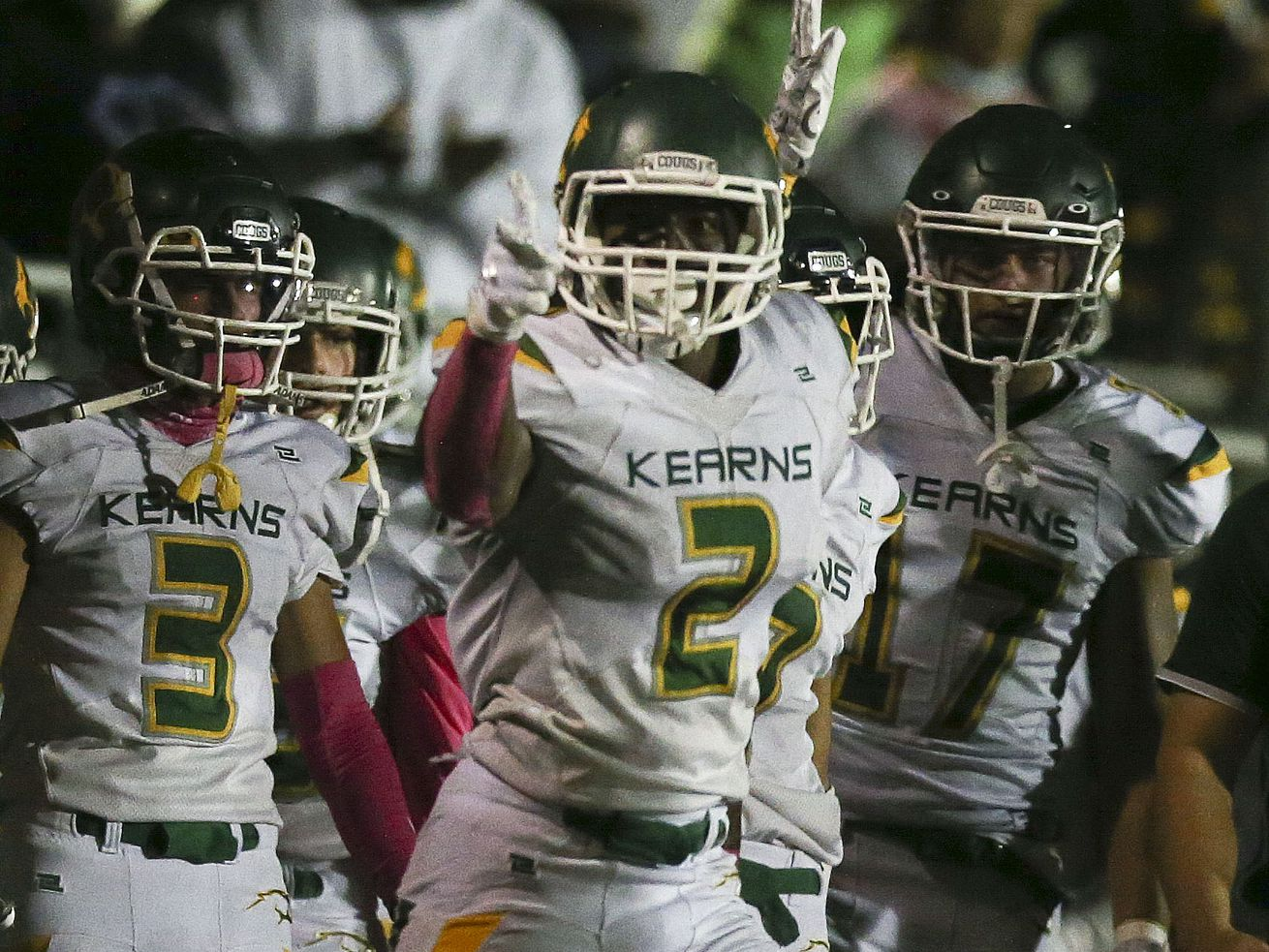 West High and Kearns compete in a high school football game at West High School in Salt Lake City on Friday, Oct. 9, 2020.