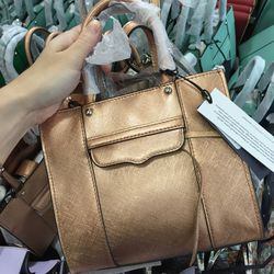 MAB tote mini in rose gold, $125 (was $215)