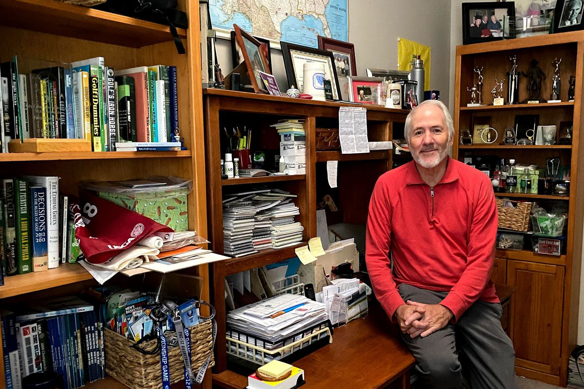 Mike Sorensen at his home office. After 42 years, the veteran sports writer is calling it a career at the Deseret News.